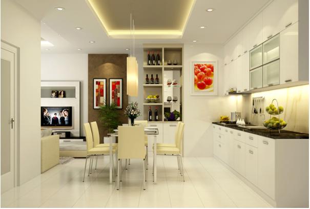 Thiết kế phòng bếp tiện nghi, hiện đại