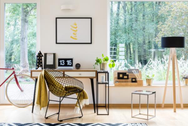 Trang trí tiện nghi, hiện đại đem lại sự gọn gàng cho căn phòng làm việc