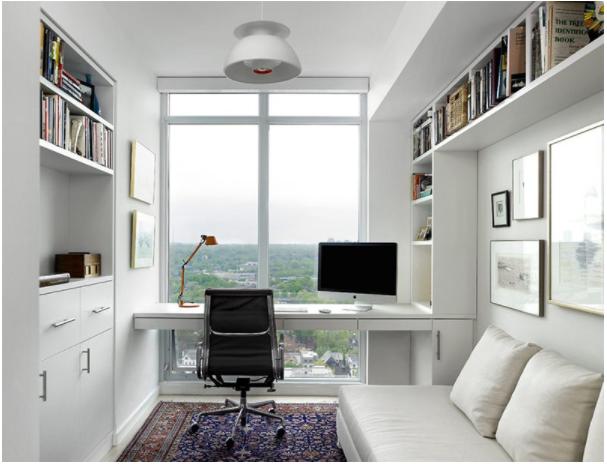 Nội thất phòng làm việc tại nhà rộng rãi,thoải mái