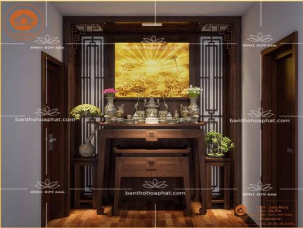 Thiết kế phòng thờ trang nghiêm, tôn kính
