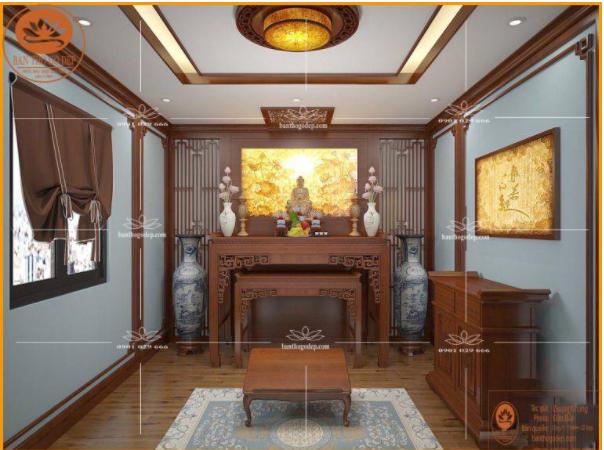 Mẫu phòng thờ Phật đẹp
