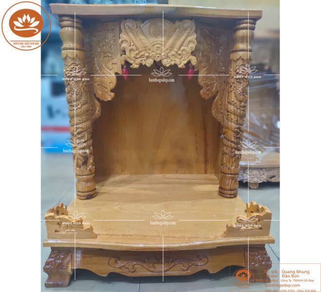 Mẫu bàn thờ thần tài được ưa chuộng bậc nhất hiện nay.