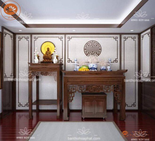 Vị trí đặt bàn thờ trong thiết kế phòng thờ hiện đại