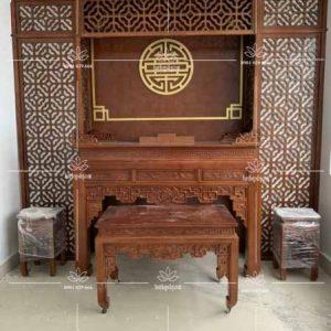 Mẫu bàn thờ đẹp đẳng cấp BT38 – Bàn thờ đứng hiện đại sang trọng