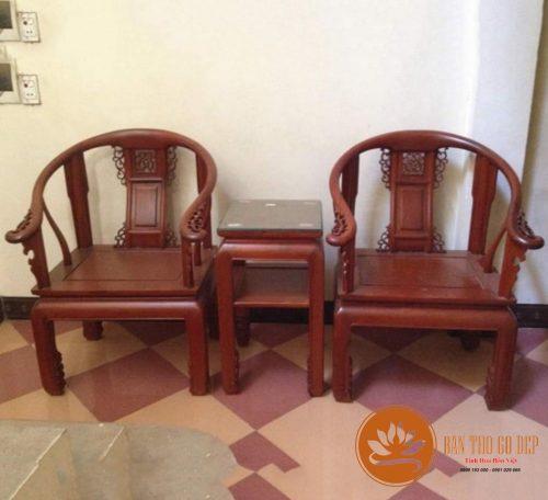 Bộ bàn ghế gỗ gụ BG201