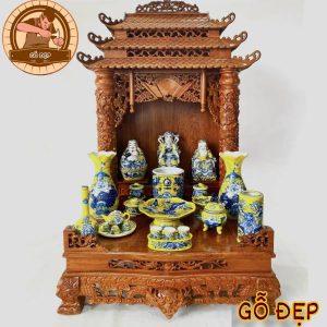 Bàn thờ Thần Tài Gỗ Hương OTT07