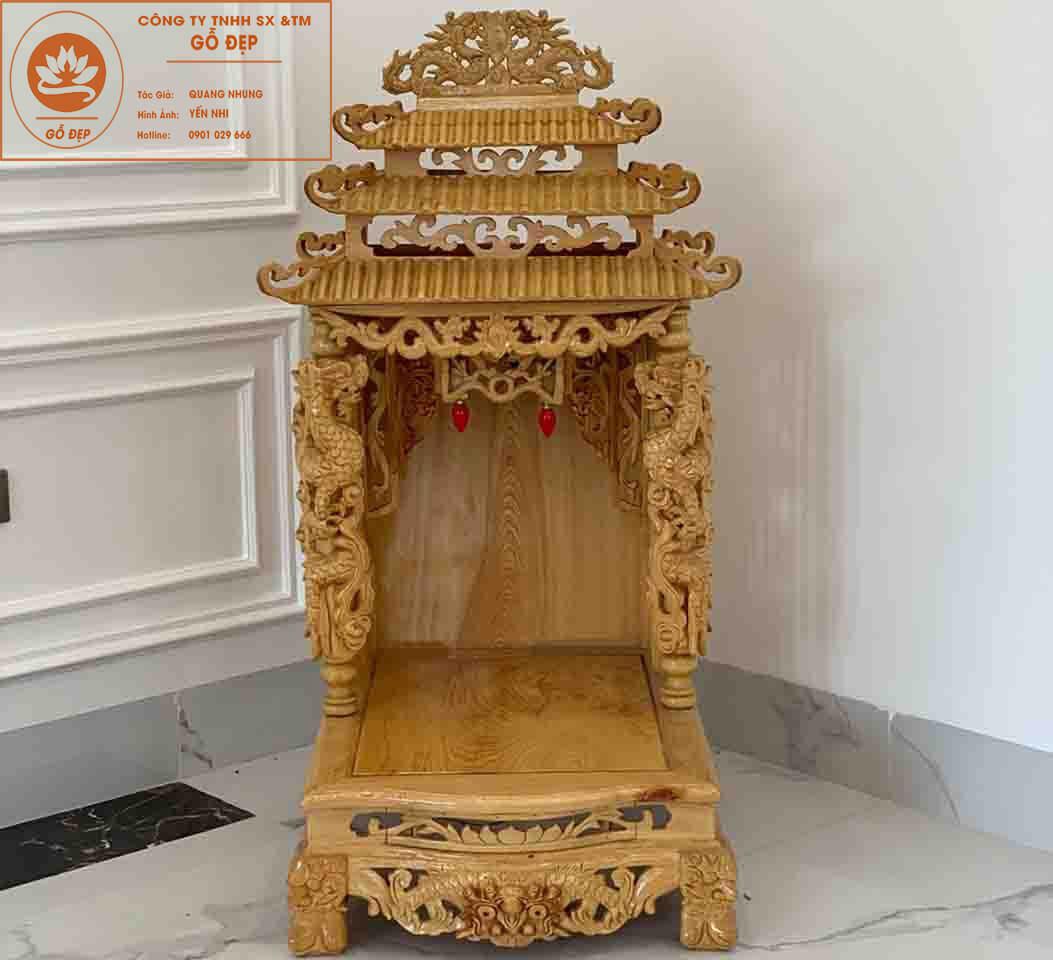 Mẫu bàn thờ ông địa thần tài đẹp