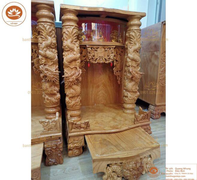 Mẫu bàn thờ thần tài gỗ gõ OTT 88 hiện đại đẳng cấp