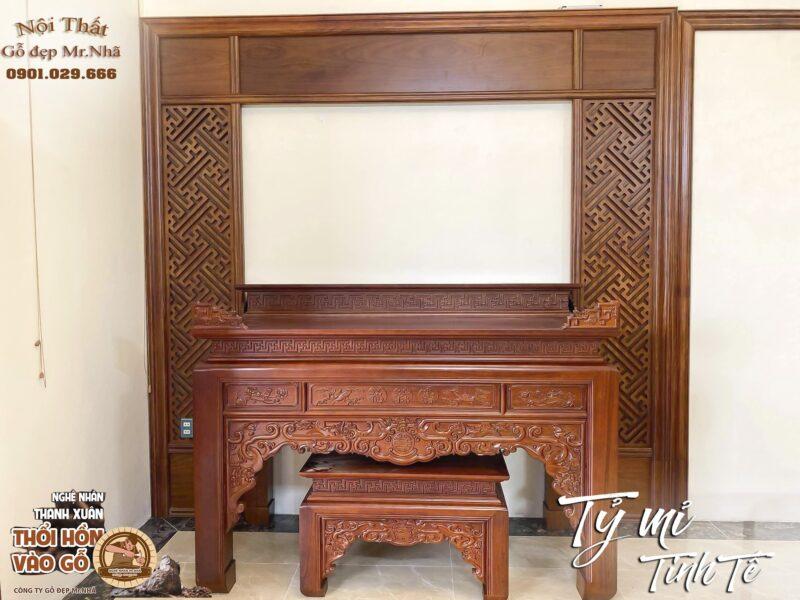 Mẫu bàn thờ gỗ mít đẹp hiện đại BT2000