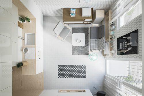 Cửa kính lớn để tăng ánh sáng tự nhiên giúp phòng trở nên sống động