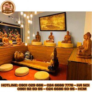 Tranh giấy dừa tượng Phật TD18
