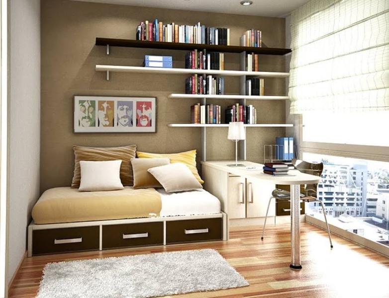 Giá sach treo tường - sự lựa chọn phù hợp cho không gian phòng ngủ