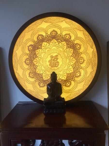 Bức tranh Mandala giống như một công cụ thiền giúp tập trung trí tuệ
