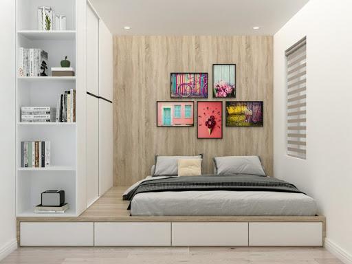 Tủ quần áo kết hợp cùng giường ngủ