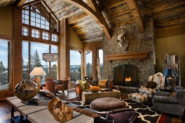 Ứng dụng triệt để chât liệu gỗ vào nội thất, hoặc các loại vật liệu thô như gạch, xi măng, gốm