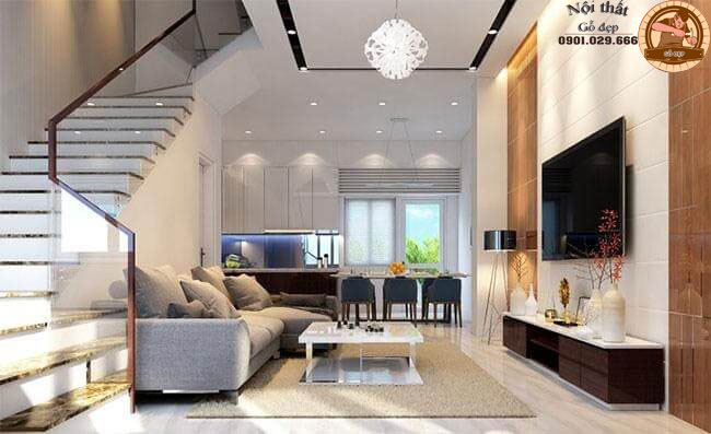 Trong phong cách nội thất hiện đại, màu sắc nội thất được để ý đến là chủ yếu