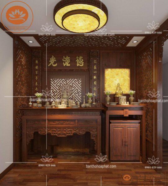 Phòng thờ nhỏ đẹp, hiện đại cho không gian thờ cúng gia đình