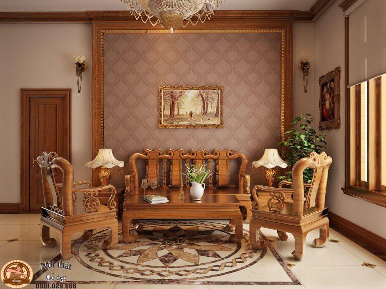 Chất liệu gỗ tự nhiên cho không gian gia đình truyền thống