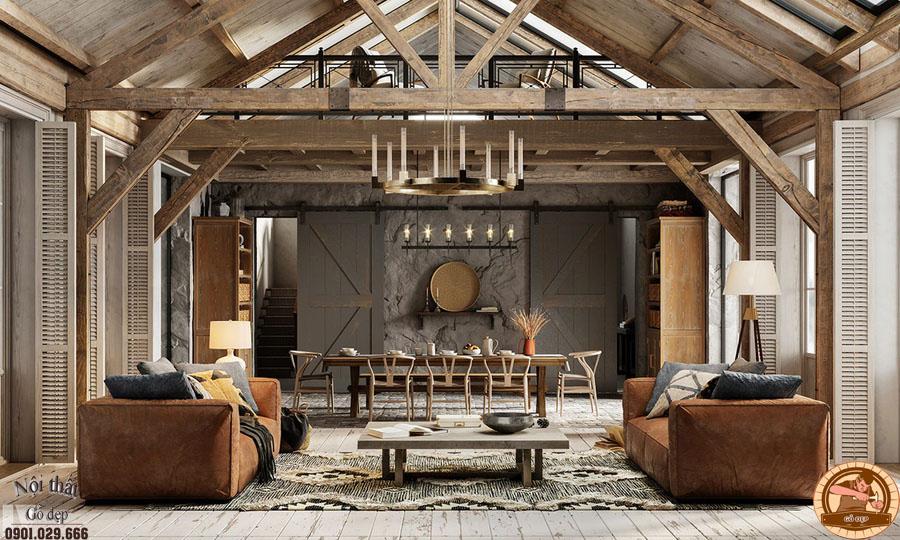 Cách bày trí nội thất mang lại cho người sử dụng cảm giác ấm áp và thuận tiện.