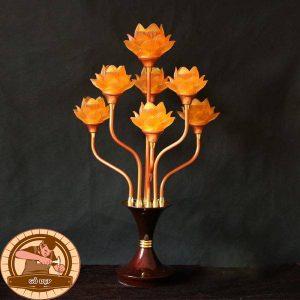 Đèn thờ lưu ly hoa sen 7 bông ĐT04