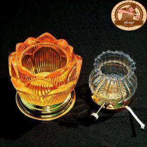 Đèn thờ bằng dầu hình hoa sen ĐT11