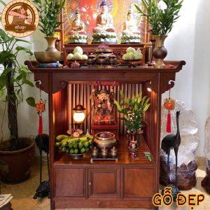 Tủ Thờ Phật Và Thần Tài Ông Địa